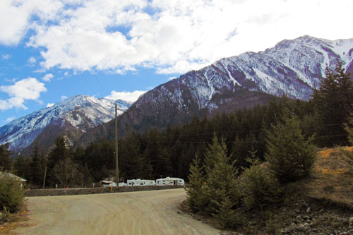 Mountains around Crane's Landing RV Park